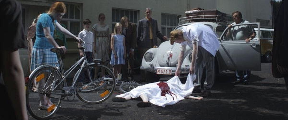 """Le tournage du film de Jaco van Dormael, """"Le tout nouveau testament"""", au Luxembourg en août 2014."""