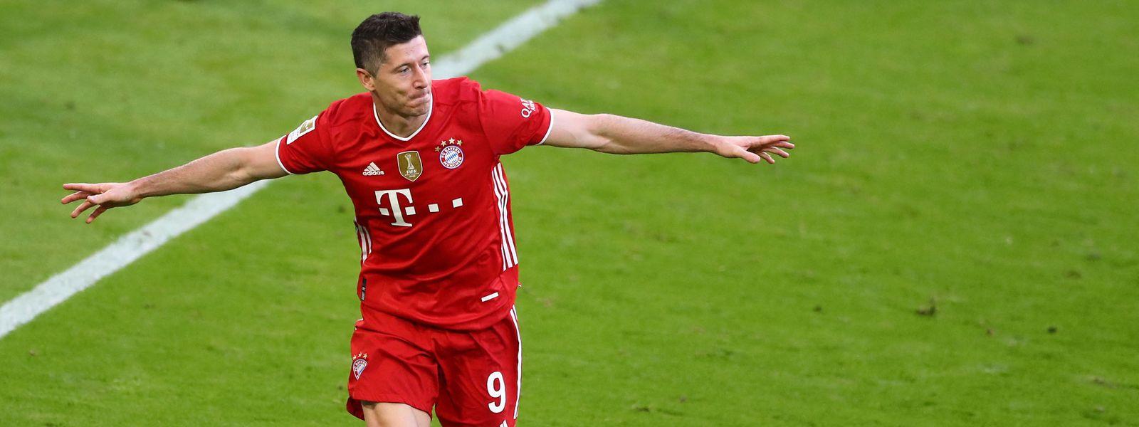 Bayern-Stürmer Robert Lewandowski is auf bestem Wege zum Bundesliga-Rekord.