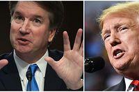 Inzwischen werfen zwei Frauen Brett Kavanaugh (l.) sexuelle Übergriffe in den 1980er-Jahren vor. US-Präsident Trump nennt die Vorwürfe politisch.
