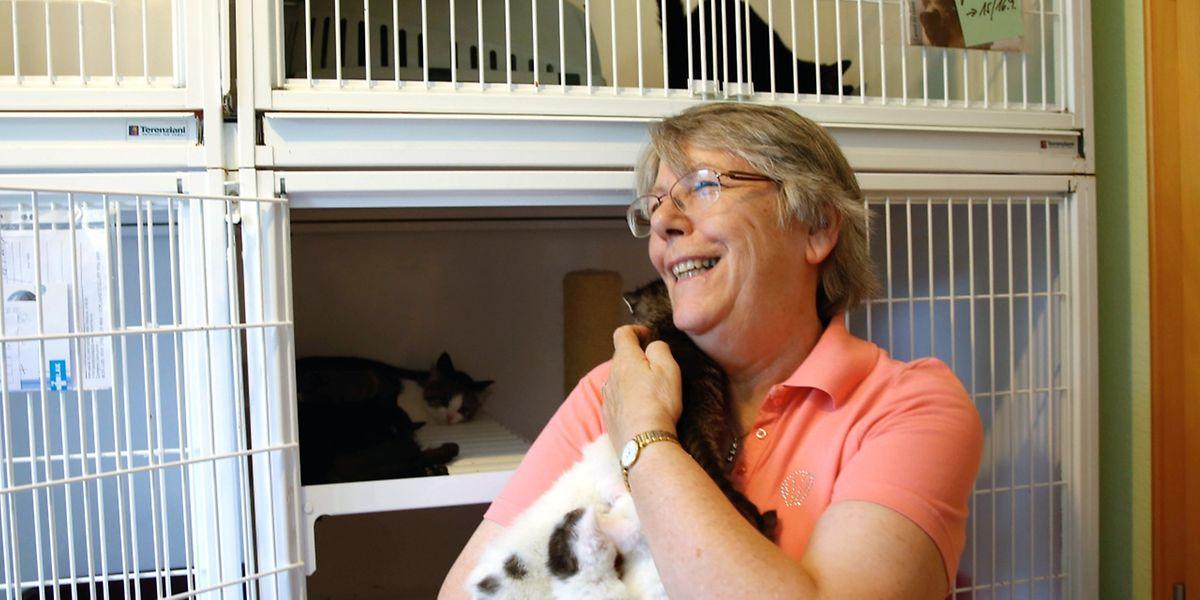 Marie-Anne Heinen-Mercy kümmert sich rührend um ihre Schutzbefohlenen.
