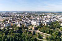 Lokales,Luxemburg Stadt,Panorama Altstadt,Finanzplatz,Urlaub,Reisen.Foto: Gerry Huberty/Luxemburger Wort