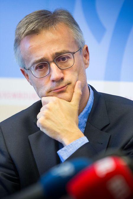 """Félix Braz, ministre de la Justice: «Nous partons du principe que le centre pénitentiaire du """"Ueschterhaff"""" ouvrira en 2020» à Sanem."""