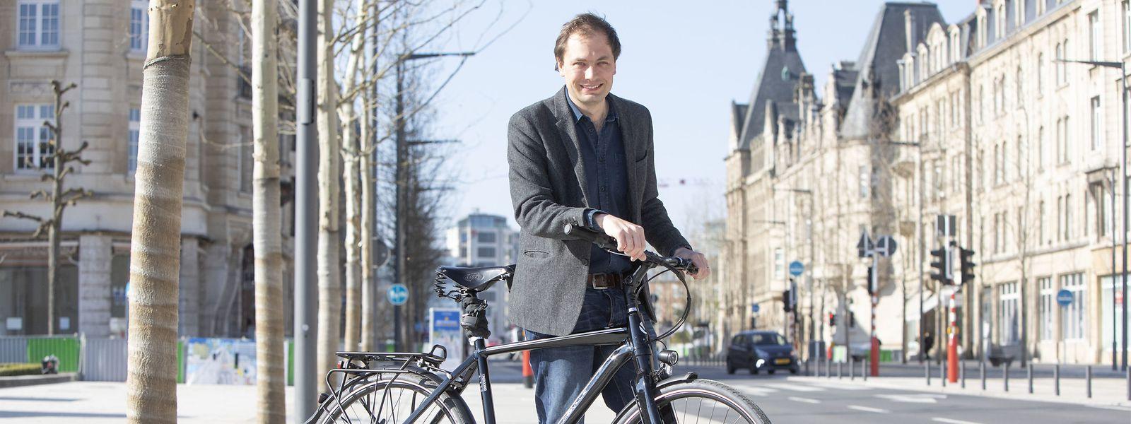 Das Fahrrad als ideales Fortbewegungsmittel: François Benoy hofft, mit konkreten Plänen Bewegung ins Spiel zu bringen.