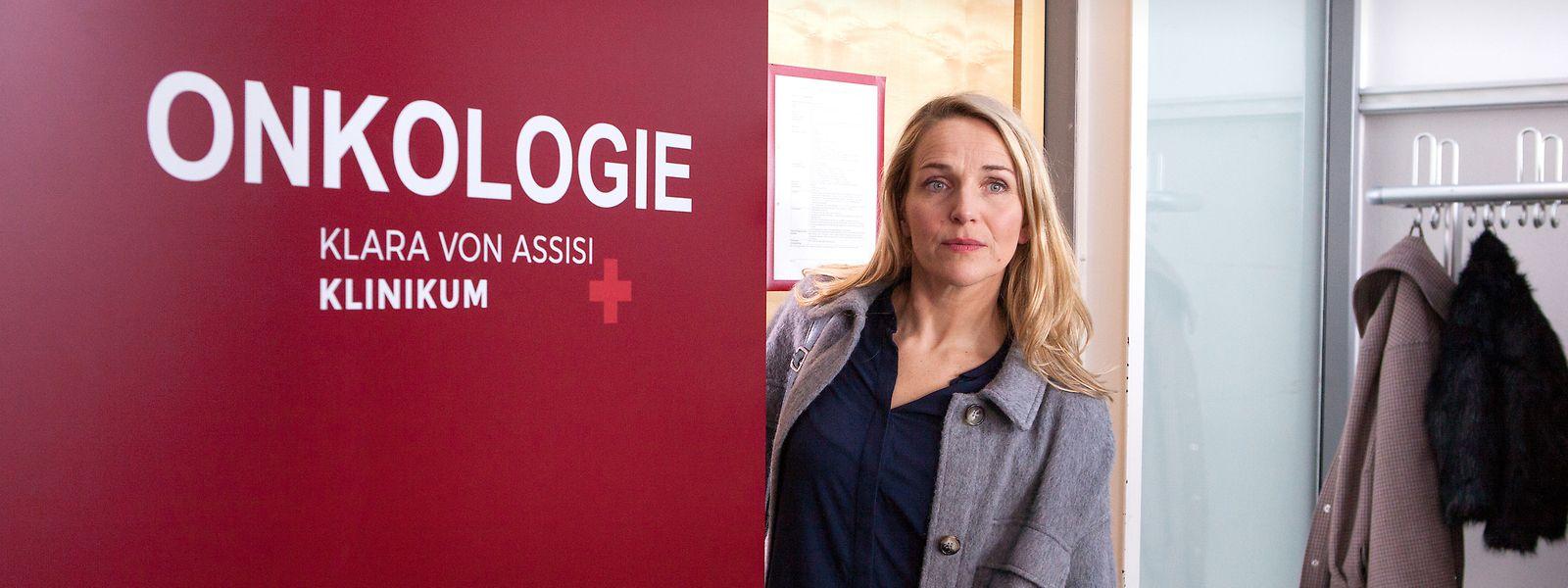 Will mit ihrer Rolle als Brustkrebspatientin Fritzie Kühne dem Fernsehpublikum auch das Thema Krebsvorsorge ans Herz legen: Schauspielerin Tanja Wedhorn.