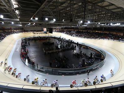 The velodrome in Montigny-le-Bretoneux, France