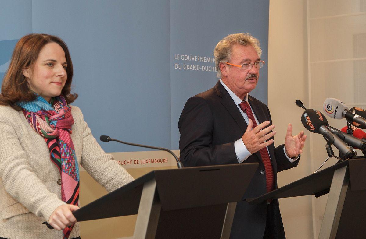 Corinne Cahen et Jean Asselborn lors de la conférence du jeudi 4 février 2016