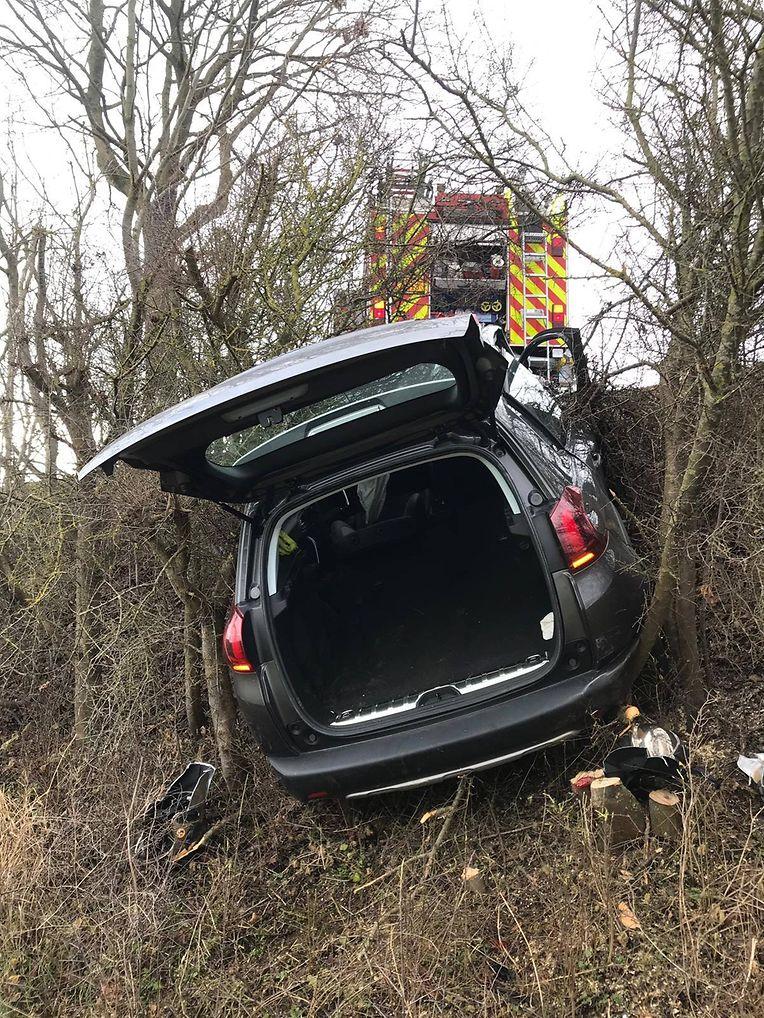Unfall auf der Strecke zwischen Beidweiler und Weydig.