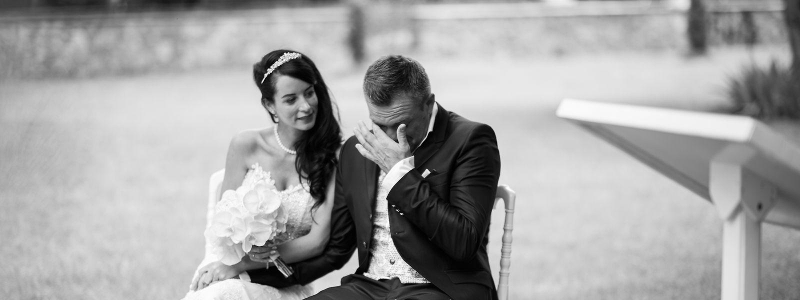 Rührung und Tränen am schönsten Tag im Leben von Nadja Burg und Sébastien Remy.