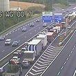 Für rund 30 Minuten stand der Verkehr auf der A1 still.