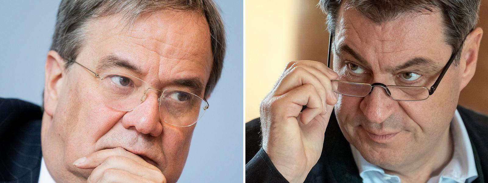 Armin Laschet (links) und Markus Söder gelten als Anwärter für die Unions-Kanzlerkandidatur