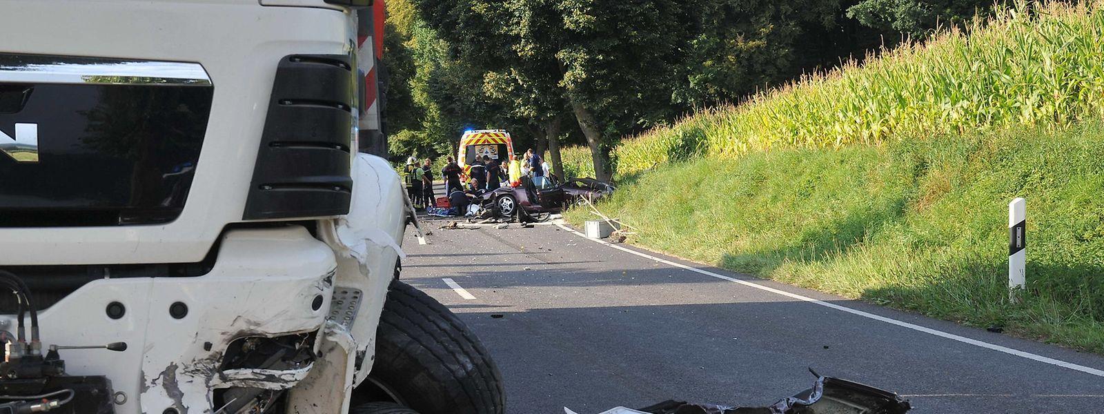 La collision s'est produite vers 16 h30 entre Hostert et Ospern, près de Redange-sur-Attert.