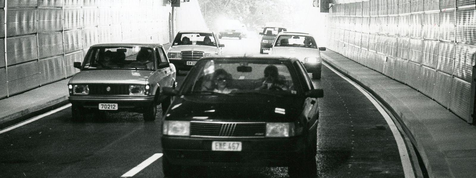 Durch den Bau des Tunnels gelangen die Autofahrer binnen kürzester Zeit vom Viadukt zum Eecherbierg.