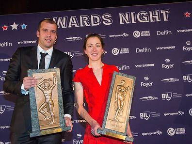 Gilles Muller and Christine Majerus won sportsman and sportswoman of the year 2016 for the second consecutive year