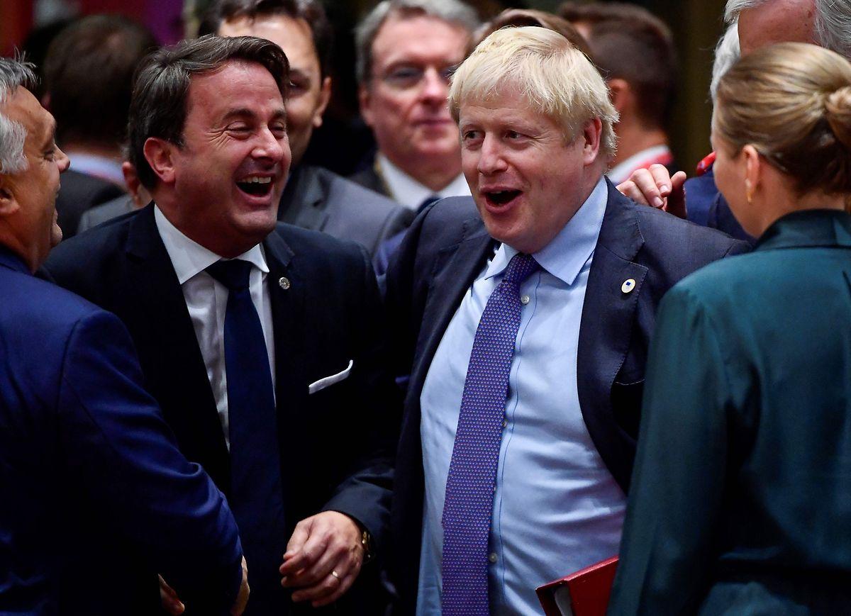 Trotz aller Brexit-Schwierigkeiten scheint die Stimmung zwischen Xavier Bettel und Boris Johnson nicht schlecht zu sein.