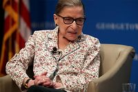 (FILES) In this file photo taken on July 2, 2019  US Supreme Court Associate Justice Ruth Bader Ginsburg participates in a discussion at Georgetown University Law Center in Washington, DC. - US Supreme Court Justice Ruth Bader Ginsburg, whose repeated health battles have sparked speculation about her retirement, has undergone another round of cancer treatment, the court announced August 23, 2019. (Photo by ALEX WONG / GETTY IMAGES NORTH AMERICA / AFP)