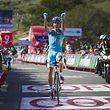L'Italien Fabio Aru peut brandir les poings en signe de victoire: il s'est imposé en solitaire au terme de la 11e étape, au sommet de San Miguel de Aralar