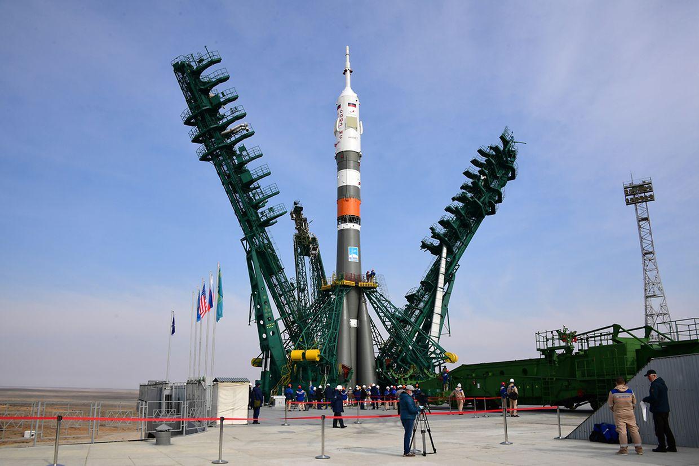 Das Soyuz MS-16 Raumschiff startete vom Weltraumbahnhof Baikonur aus.