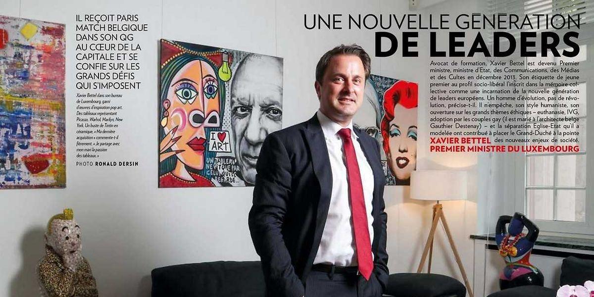 """""""Die Inkarnation einer neuen Politikergeneration"""": Dem Menschen und Politiker Xavier Bettel wird im """"Paris Match"""" gehörig geschmeichelt."""