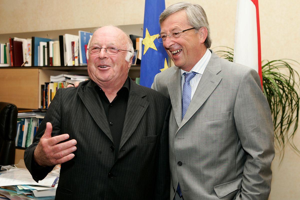 20. August 2008: Der ehemalige deutsche Arbeitsminister Norbert Blüm zu Besuch bei Jean-Claude Juncker.