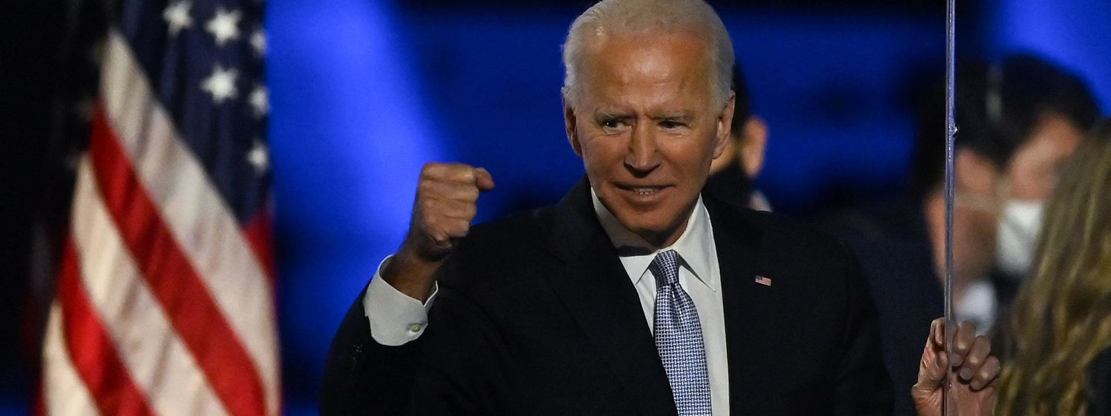Herausforderer Joe Biden feiert in Wilmington, Delaware seinen Sieg über Amtsinhaber Donald Trump.