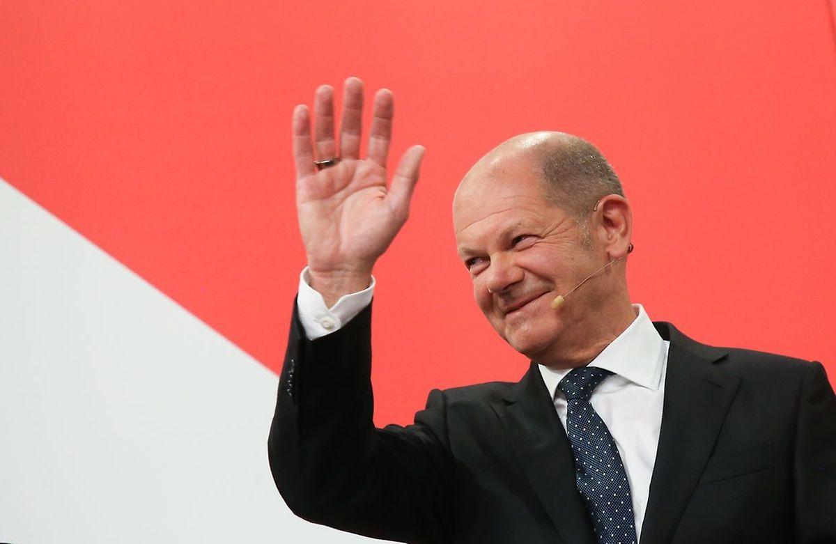 Olaf Scholz führte die SPD in Deutschland zum Wahlsieg.