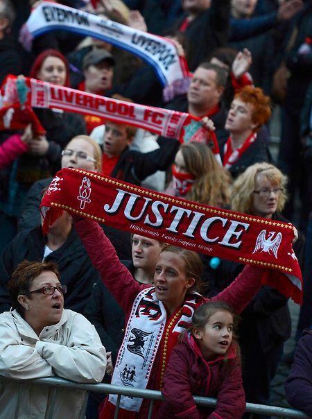 Auch noch 30 Jahre später: Liverpool-Fans fordern Gerechtigkeit für die Opfer der Katastrophe.