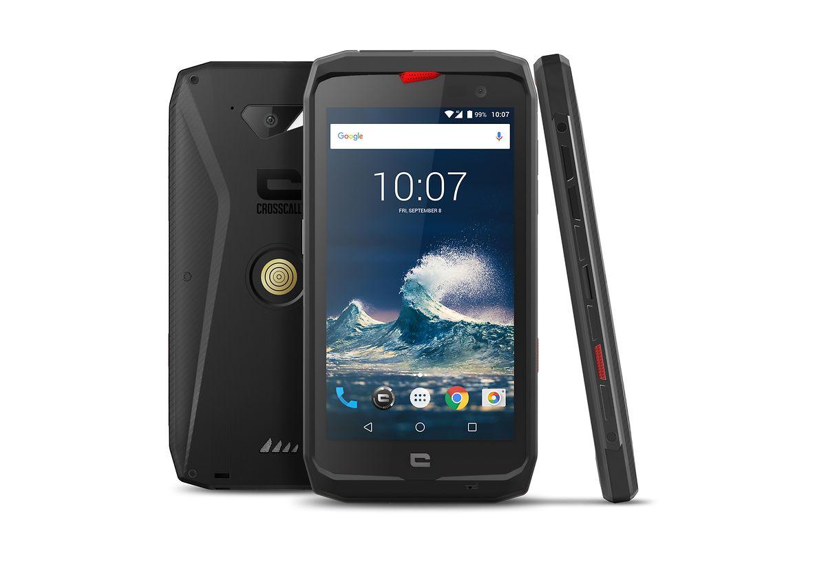 Smartphones wie das Action-X3 von Crosscall kommen auch mit härteren Bedingungen klar. Drinnen steckt meist erprobte und genügsame Hardware und ein großer Akku.