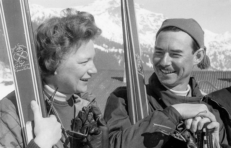 De férias em Sankt Anton, na Áustria, em 1964.