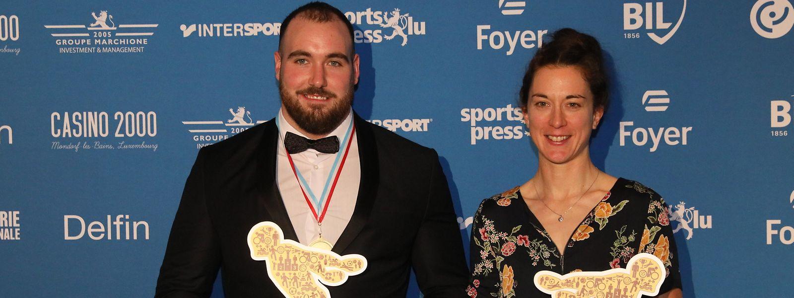 Die Sportler des Jahres 2019: Bob Bertemes und Christine Majerus.