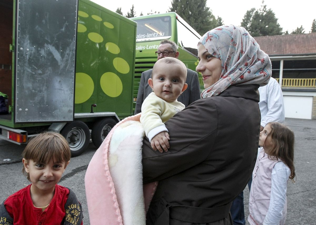 Am Dienstag kamen rund 50 syrische Flüchtlinge im Centre Héliar an.