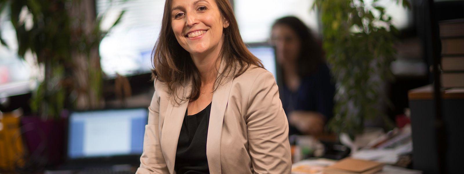 """Frischer Wind beim """"Télécran"""": Die studierte Politik- und Medienwissenschaftlerin Martine Hemmer steht seit neuestem am Redaktions-Ruder."""