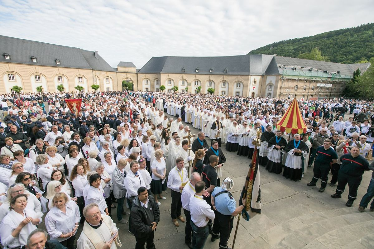 In recent years the procession has attracted some 14,000 pilgrims and spectators Photo: Lex Kleren