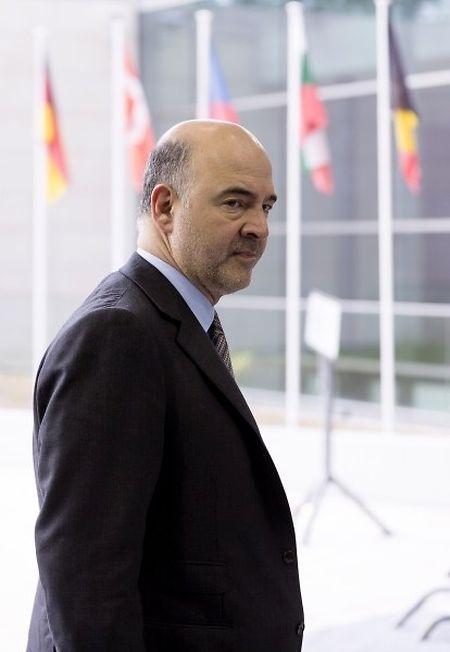 Pierre Moscovici à son arrivée à Luxembourg ce matin.