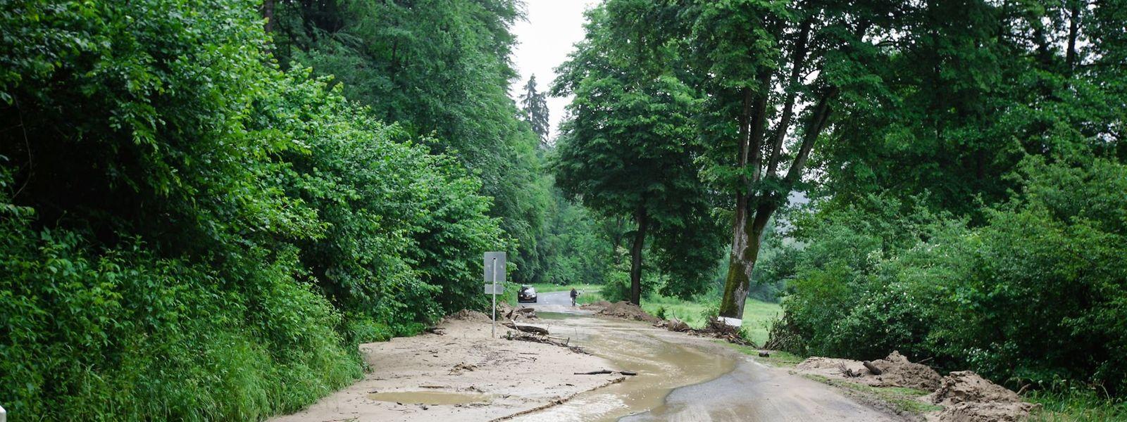Viele Straßen im Müllerthal sind momentan nicht befahrbar.