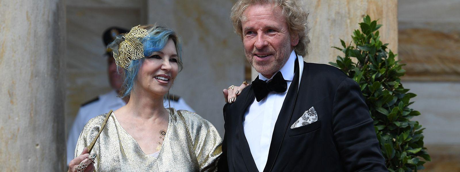 Entertainer Thomas Gottschalk und seine Frau Thea. Sie haben zwei Söhne.