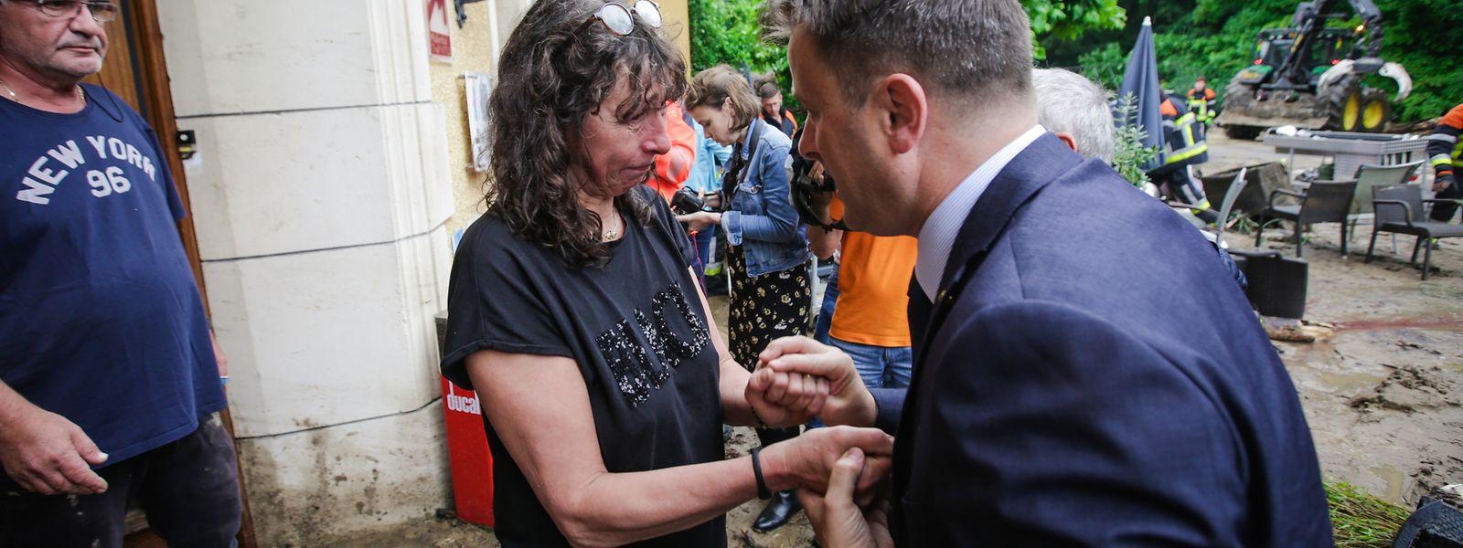 Le Premier ministre à la rencontre des sinistrés ce matin à Mullerthal