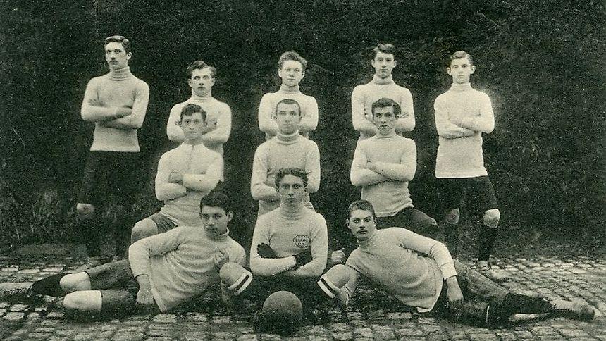 Seltene Aufnahme des Daring Club Eich aus dem Jahr 1908: Der Vereins existierte nur vier Jahre während der euphorischen Anfangszeit der Fußballkultur in Luxemburg.
