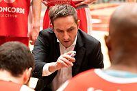 Kevin Magdowski (Trainer Sparta Bartringen) / Basketball, Total League Maenner, US Heffingen - Sparta / 11.01.2020 / Heffingen / Foto: Christian Kemp