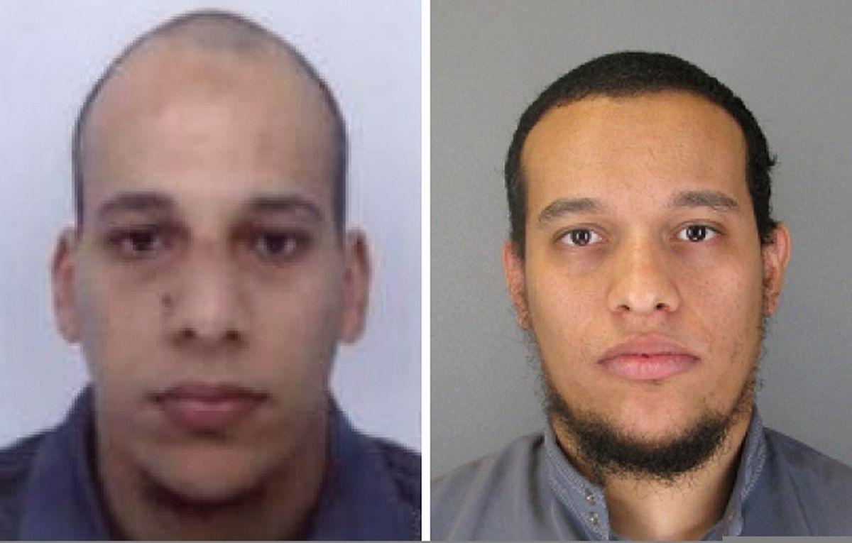 Die Polizei veröffentlichte Fotos der Brüder Chérif (l.) und Said.