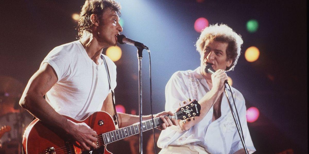 Le rockeur et son ami Eddie Mitchell