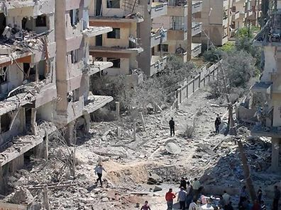Al-Waer, a besieged area of the district of Homs in Syria.
