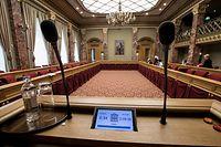 25.4.IPO / Xavier Bettel / Chamber / Etat de la Nation / nach dem Abruch / Plenarsaal / Plenarsaal  Foto:Guy Jallay