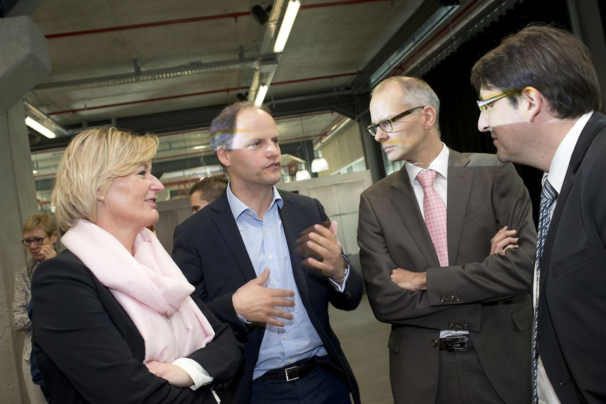 La secrétaire d'Etat à l'Economie, Francine Closener, est venue présenter le nouveau programme d'amorçage