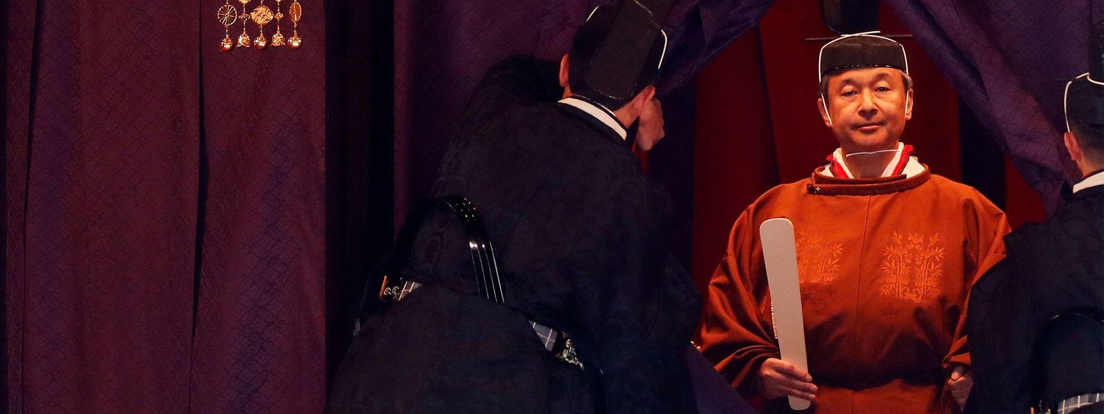 Kaiser Naruhito während der Zeremonie zu seiner Thronbesteigung in Tokio.