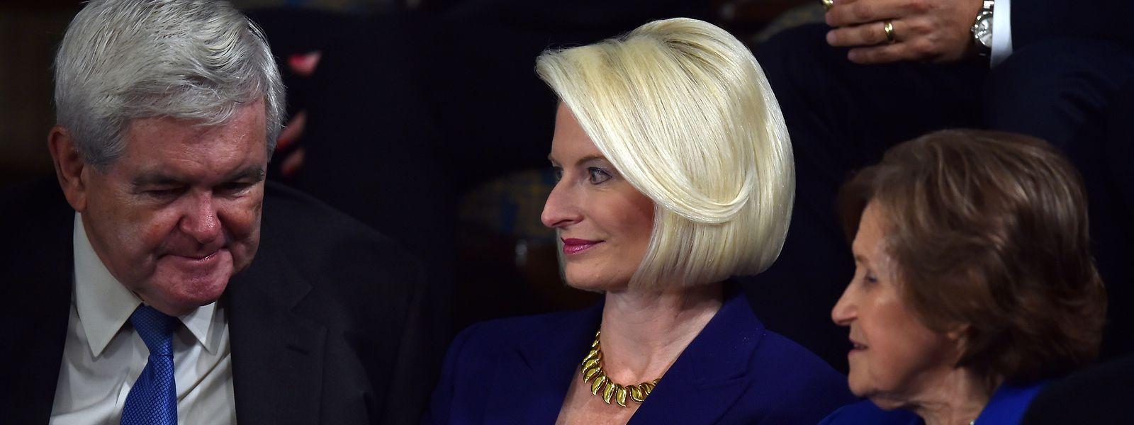 Callista Gingrich (M.) soll US-Botschafterin im Vatikan werden.