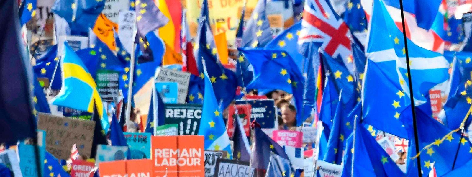 Tausende protestierten am Samstag in der britischen Hauptstadt gegen den Brexit.