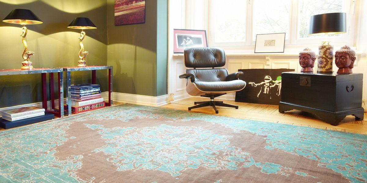 Die handgeknüpften Teppiche von Hossein Rezvani stehen für modernes Design aus dem Iran.