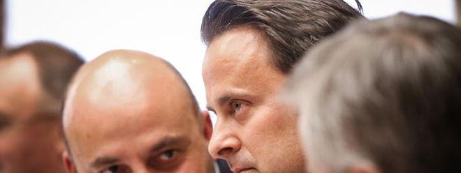 Etienne Schneier, Xavier Bettel et Félix Braz (de g.àdr.) comptent notamment sur les effets de la réforme fiscale pour remonter dans les sondages