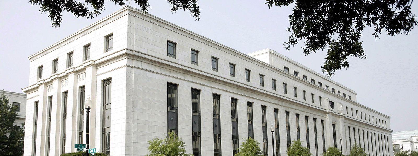 Das Gebäude der US-amerikanischen Notenbank Federal Reserve (Fed).