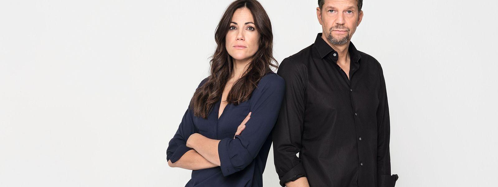 Das Mittelstandspaar Hanna (Bettina Zimmermann) und Tom (Kai Wiesinger) liefert sich jeweils einen Schlagabtausch zu einem bestimmten Thema.